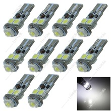 ZA117 10X Car 4 SMD 5050 + 2.5W LED PCB T10 W5W Wedge Side Luggage Compartment Light Reading Bulb Door Lamp Canbus Error Free(China (Mainland))