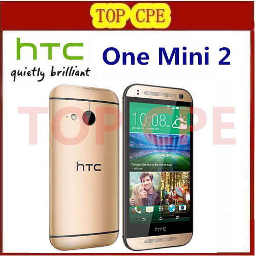 Original unlocked HTC One M8 mini cell phones HTC one mini 2 16GB Quad core WIFI 4.5 inch touch screen Free Shipping in stock(China (Mainland))