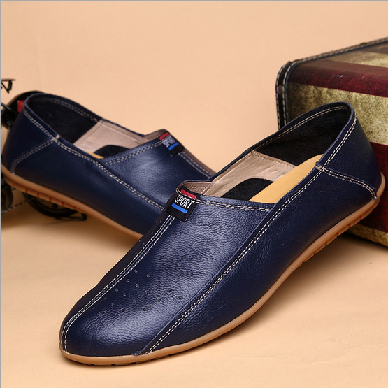 New 2015 Men Loafers Genuine Leather Casual Driving Flat Shoes Spring Summer Breathable Zapatos Hombre Slip on Man Loafers