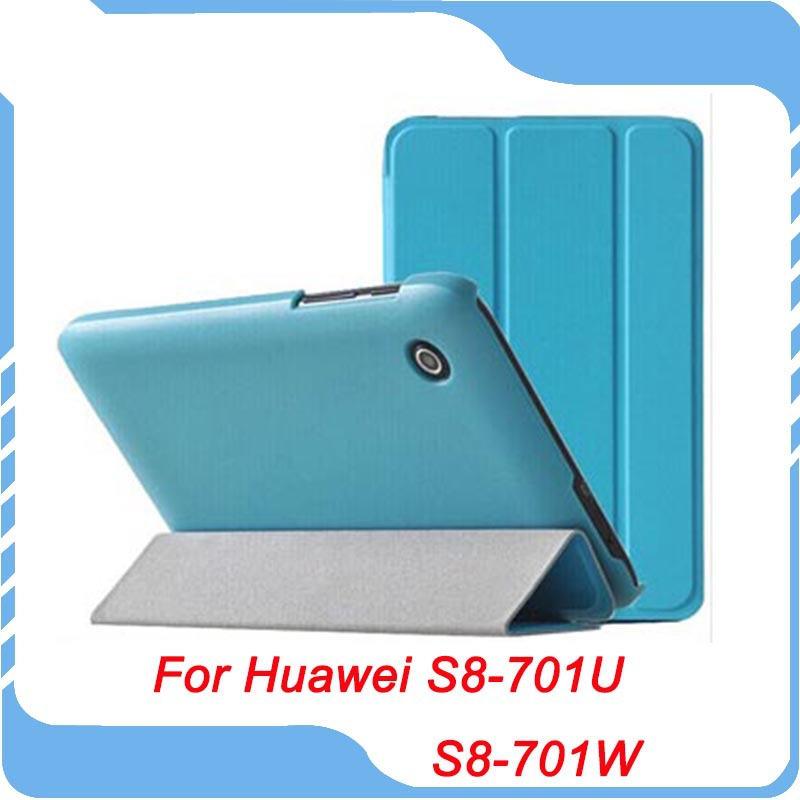 Ultra Slim Folio Leather Case Cover Stand For 8 inch HuaWei MediaPad T1 8 0 inch