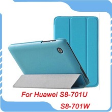 Ultra Slim Folio Leather Case Cover Stand For 8 inch HuaWei MediaPad T1 8.0 inch  S8-701U S8-701W Tablet Free Shipping