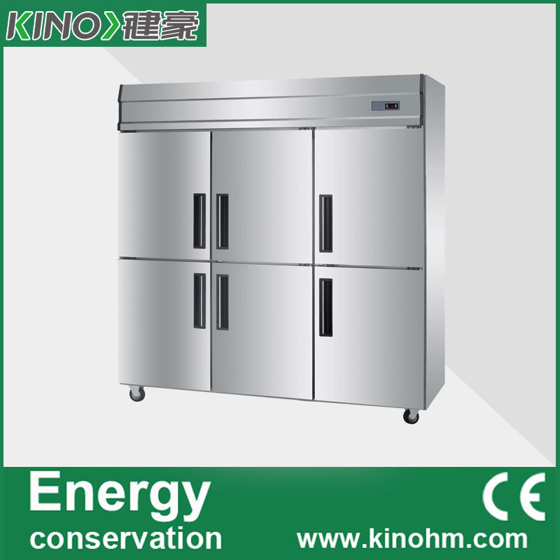 China factory direct sale,6 doors,Stainless Steel kitchen freezer,commercial freezer,freezer refrigerator,fridge(China (Mainland))