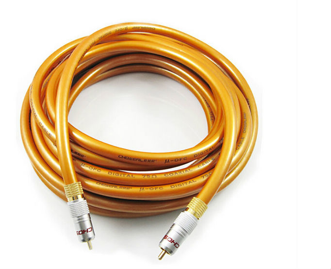 Choseal QE-161 digital coaxial and bass LF transmission cable RCA digital audio cable 5.1 stereo Subwoofer line free shipping(China (Mainland))