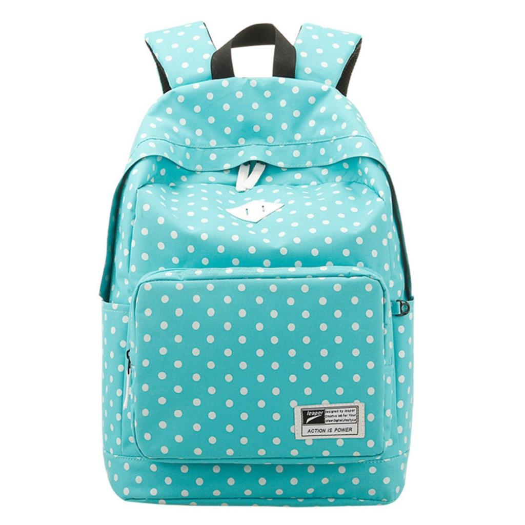 2014 fashion dot women canvas backpack mochila feminina Japanese school bags for teenagers travel shoulder bag laptop bag(China (Mainland))