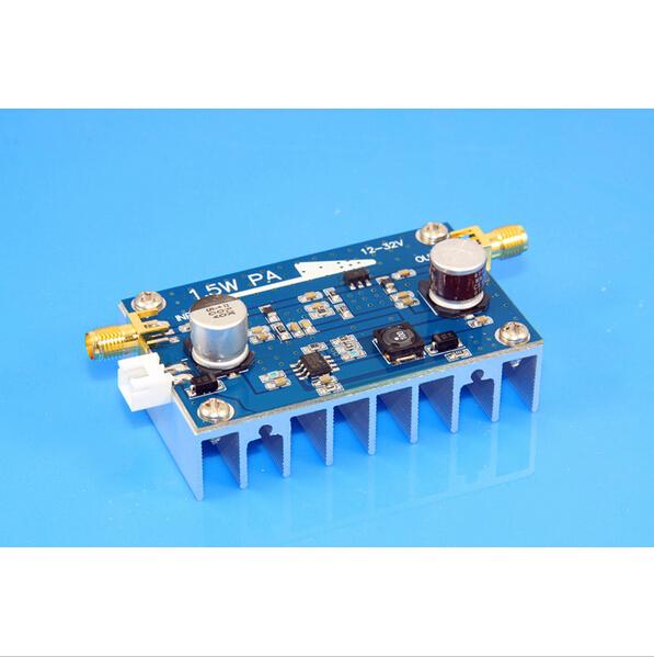 10MHz-500MHZ 1.5W Amplifier HF FM VHF UHF FM transmitter broadband RF power amplifier(China (Mainland))