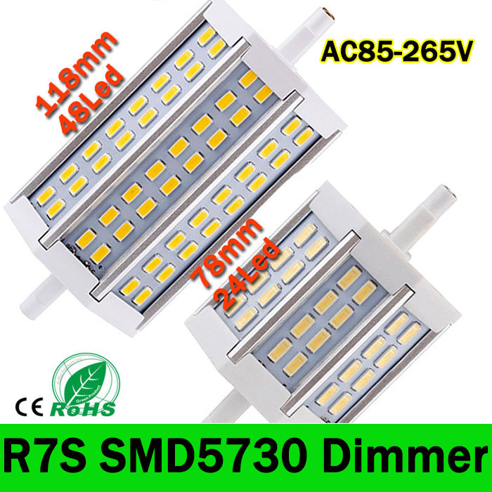 R7S LED Lamp SMD5730 15W 25W 30W R7S 78mm 118mm 135mm LED corn Light LED R7S spotlight Bulb Energy Saving Replace Halogen Lamp(China (Mainland))