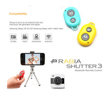 New Hot Bluetooth Wireless Remote Shutter Self-timer Self Timer Selfie Remote for iphone Samsung HTC other android smart phones