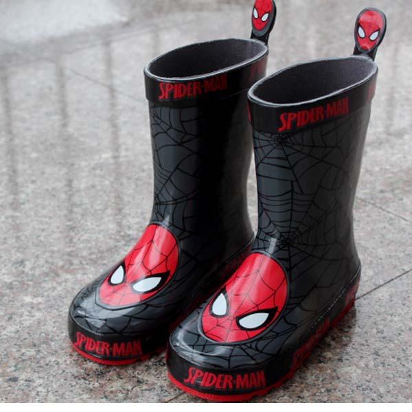 2015 New Kids Fashion Rubber Cartoon Rain Boots Children Boys Anti-slip Rainboots Waterproof Water Shoes Child Wellies #KS45(China (Mainland))