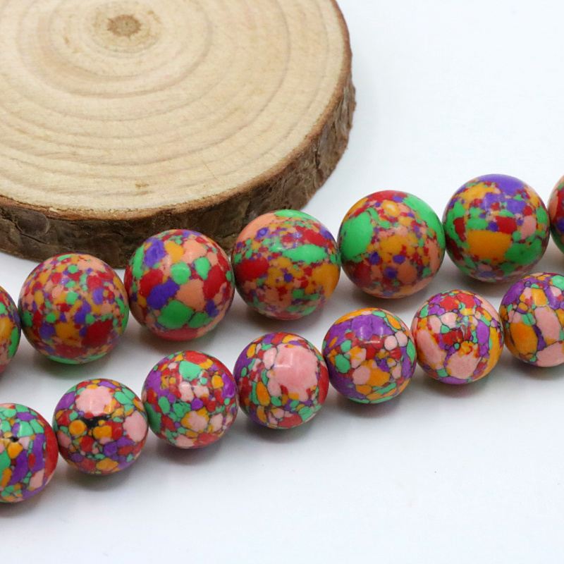 Multicolor turquoise 10/12mm size optional round loose beads 15 inch DIY stone women jewelry making ornaments free shipping(China (Mainland))