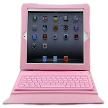 Top Quality For iPad 2 3 4 9.7 inch Protective Cover Built-in Silicone Bluetooth Keyboard Keyset Stand PU Leather Case(China (Mainland))