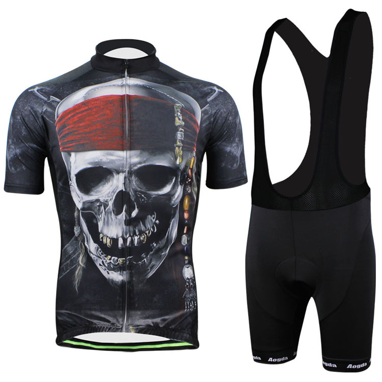 Fashion Pirate Skull Cycling clothing /Cycling wear/ Cycling jersey short sleeve Bib Shorts Suite CC2006<br><br>Aliexpress