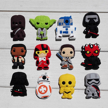 Novelty 24PCS Star Wars Hot Cartoon PVC Shoe Charms Inserts Accessories fit Bracelets Bands JIBZ Clogs,Party Supplies(China (Mainland))