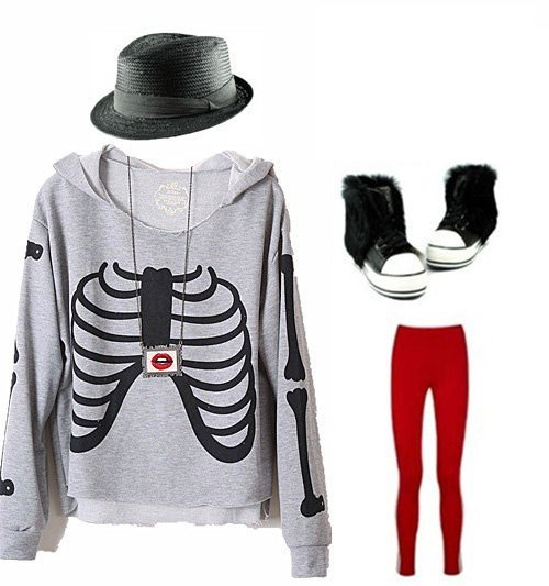 Free shipping Vintage hip-hop punk ribs fringe cotton long sleeve hooded T-shirt ladies hoodies sweatshirts tops for women 353