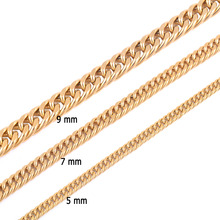 Buy Stainless Steel Gold Necklace Chain High Gold Plating Titanium Steel Cuba Chain Men Women Jewelry Gifts for $1.68 in AliExpress store