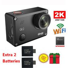 Бесплатная Доставка! Gitup Git2 Новатэк 96660 1080 P WiFi 2 К Спорт На Открытом Воздухе Действий Камеры + Дополнительная 2 шт. 950 мАч Батареи
