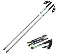 Winter outdoor sports Professional ski pole Ultra light 7075 aluminum alloy Pentamera Folding mountain climbing rod(China (Mainland))
