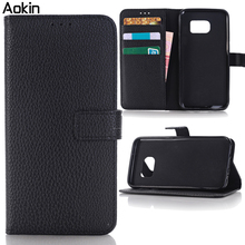 Aokin S6Case Luxury Retro Leather Wallet Flip Cover Case For SAMSUNG Galaxy S6 Edge S 6 Photo Frame Stand Samsung S6 Phone Case(China (Mainland))