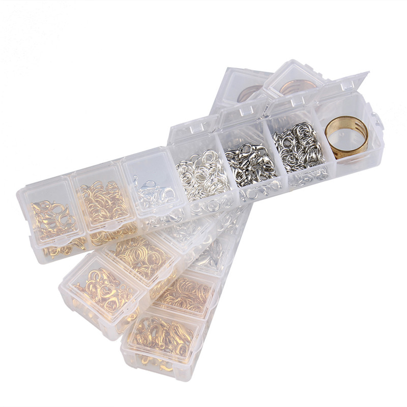 Open Jump Rings&Split Rings/Lobster Clasp&Hooks/Finger Rings/Organizer Plastic Box Cases Jewelry Findings Accessories Kit(China (Mainland))
