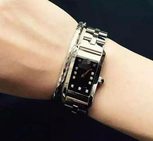 Free shipping 2015 Precision machine core set auger rectangular dial Tungsten steel strap Relogio Masculino mans wrist watch(China (Mainland))