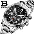 Швейцария часы класса люкс мужчины бренд БИНГЕР многофункциональный военный glowwatch Турбийон Механические Наручные Часы B1170-2