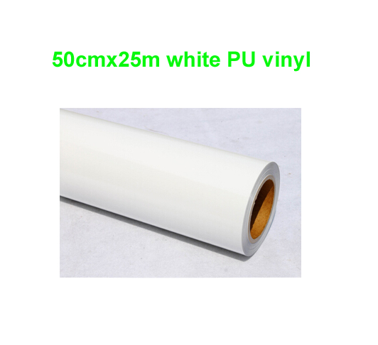 Fast Free Shipping 1 Roll 50cmx25m White Heat Transfer PU vinyl Heat Press Cutting Plotter Super Quality Made in South Korea(China (Mainland))