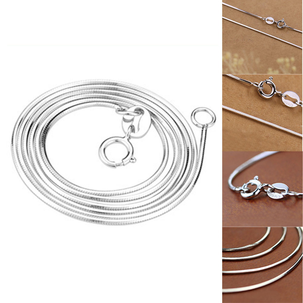 Hot Sale! Top Quality 925 Sterling Silver Anise Snake Chain Seamless Necklace Free Shipping(China (Mainland))