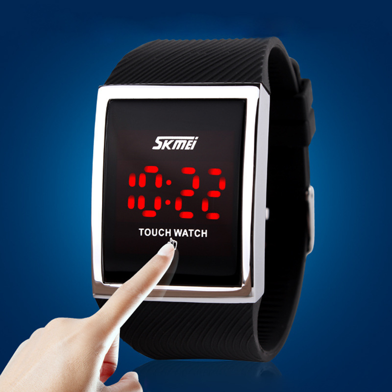 Fashion Men Women Electronic LED Touch Candy Jelly Watch Silicone Sports Digital Watch 2016 New