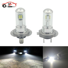 Buy 2pcs Fog Light Source H1 H3 H7 CREE LED Chips 1500lm Auto Car Driving Bulbs DRL Xenon White 6000K DC12-24V External Lights for $14.40 in AliExpress store