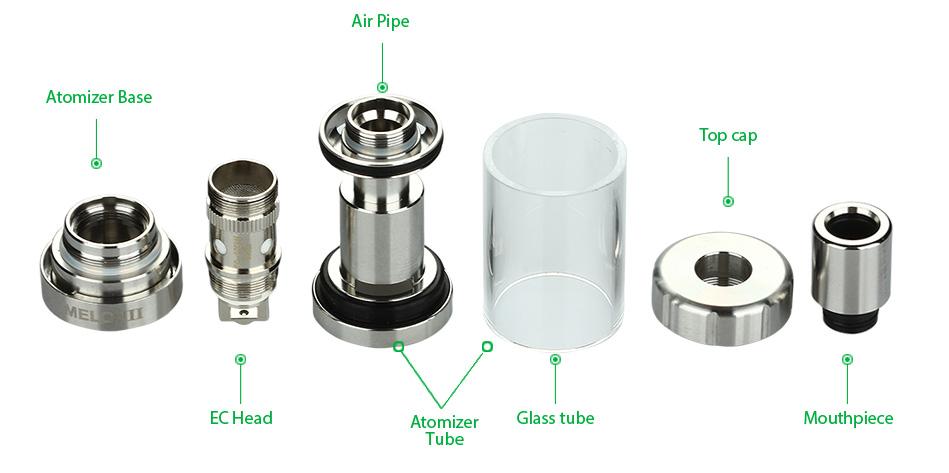 ถูก Eleaf melo 3เครื่องฉีดน้ำบุหรี่อิเล็กทรอนิกส์4มิลลิลิตรe-ของเหลวความจุด้านบนกรอกการควบคุมการไหลของอากาศmelo iiiถังสำหรับistickสมัยvape