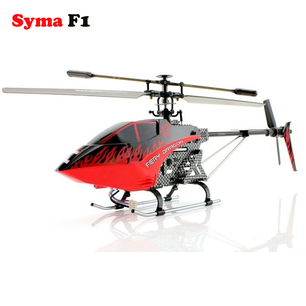 Syma F1 RC Helicopter Armor Large 3 Channel with Gyro 2.4Ghz Single Blade Drone(China (Mainland))