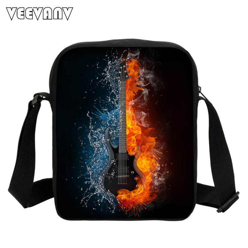 Cool Dinosaur Music Note Bags For Teenage Girls 3D Printing Messenger Bags For Kids Causal Travel Bag Music Party Shoulder Bags(China (Mainland))