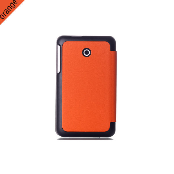 PU Leather Stand Case Cover for ASUS Fonepad 7 FE170CG/FE7010CG Tablet with hard back cover free shipping(China (Mainland))