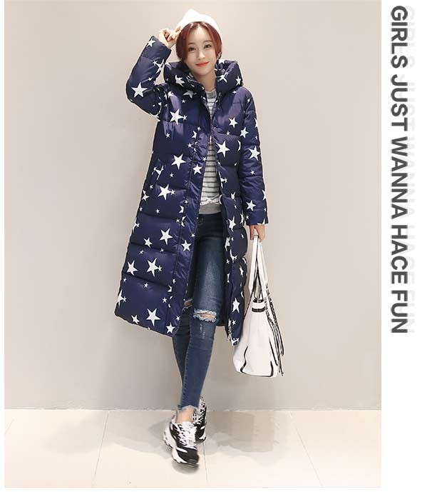 New Korean female cotton long coat big yards thick Slim winter women Down padded students coat Parka