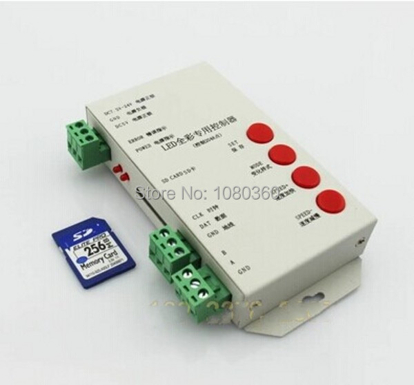 T1000 SD card Programmable RGB LED strip Controller Led pixel controler,support WS2801,LPD6803,WS2811,TM1804,TM1809,LPD8806,etc(China (Mainland))