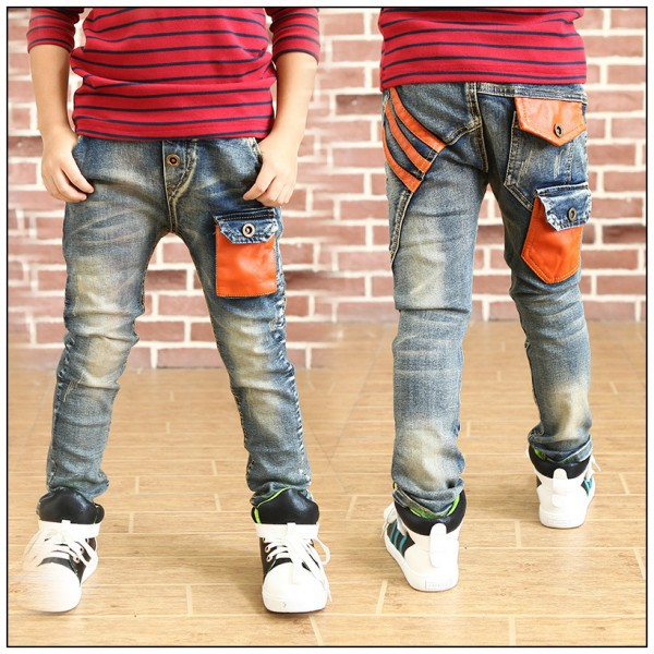 Leather Jeans For Boys Pants Boys Casual Jeans