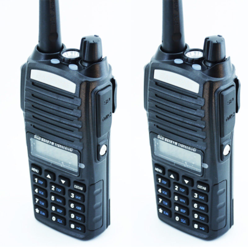 2PCS Baofeng Authorized Supplier Original Baofeng UV-82 Amateur Walkie Talkie with Double-PTT Headset(China (Mainland))