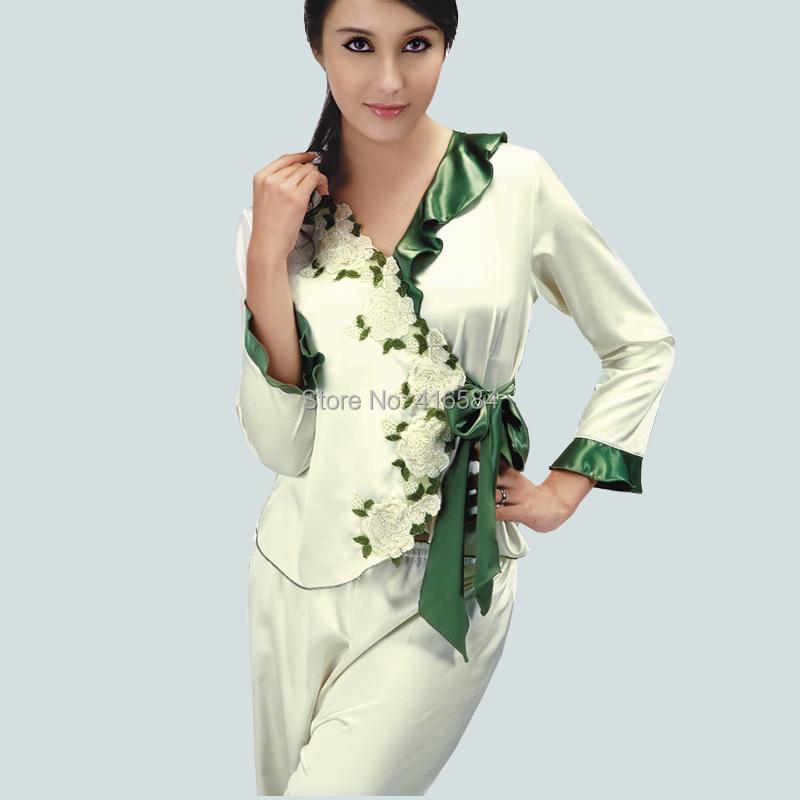 Popular White Satin Pajamas-Buy Cheap White Satin Pajamas ...