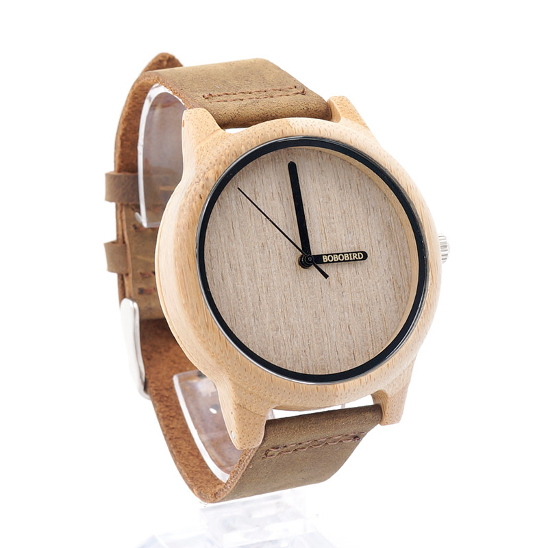 BOBOBIRD A22 Womens Casual Antique Round Bamboo Wooden Watches Japan Quartz 2035 Watches Logo Laser Customized Item Dropshipping