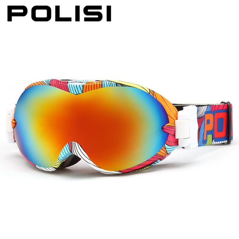 New 2015 POLISI Winter Motorcycle Sport Protective Glasses Ski Snowmobile Goggles Anti-Fog Dual Lens Snowboard Skate Eyewear