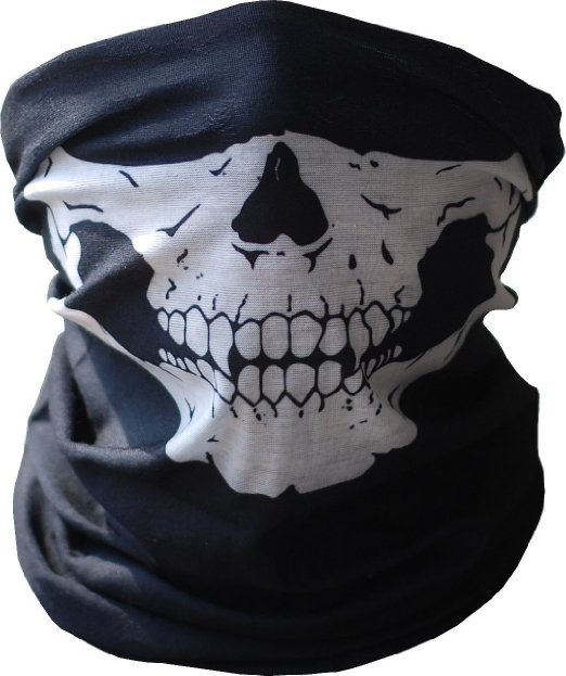 Motorcycle Bike Bicycle Skull Mask Halloween Cosplay Ski Half Face Ghost Scarf Neck Warmer Windproof Party Masks - Colourful Technology Co., Ltd. store
