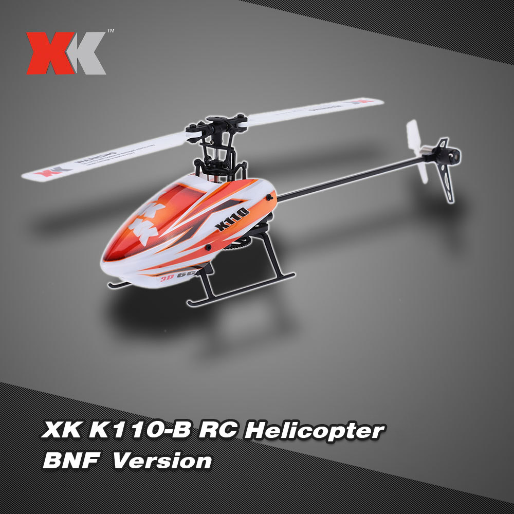Original Brand XK Blast K110-B 6CH 3D 6G System Brushless Motor BNF Quadcopter RC Helicopter Drone with Special USB Charger(China (Mainland))