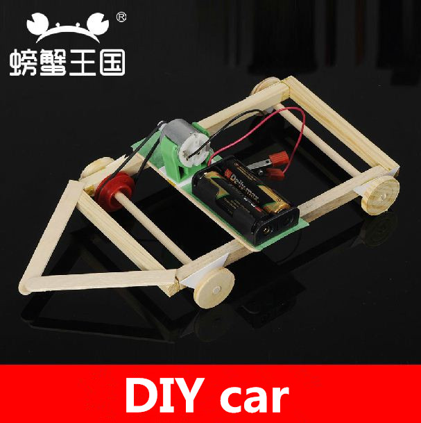educational toy car,DIY technology making students experiment car ,formula race car, model circuit teaching assembling toys(China (Mainland))