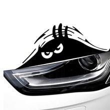 Free Shipping Funny Peeking Monster Auto Car Walls Windows Sticker Graphic Vinyl Car Decal Hot Sale(China (Mainland))