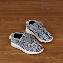 2016 марка Zapatillas осень мода детей ретро дышащие работающих кроссовки мальчиков кросс-переплетения сетки спортивная обувь Yeezy стили