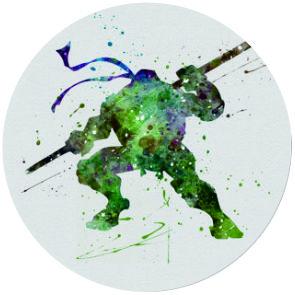 10pcs/lot Donatello Teenage Mutant Ninja Turtles Art Print NECKLACE Glass Photo Cabochon Necklace(China (Mainland))
