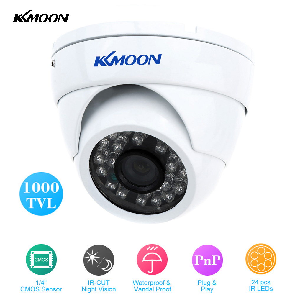 "Waterproof HD 1000TVL CCTV Security Camera IR-CUT Dome CCTV Camera Night Vision 3.6mm 1/4"" CMOS Vandal Proof Surveillance Camera(China (Mainland))"