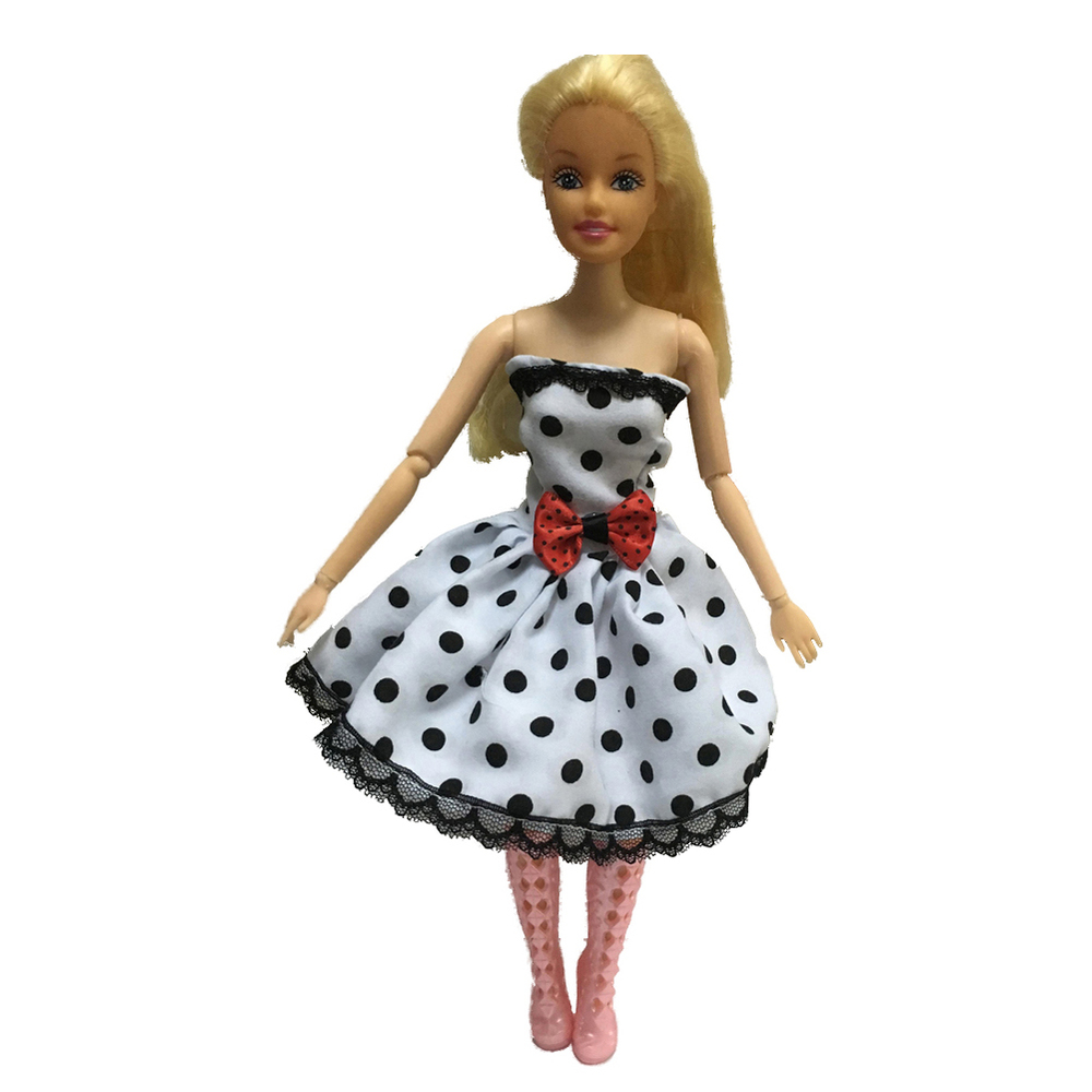 Authentic For Barbie White Wave level pp003 Gown Garments Get together Princess Doll Gown