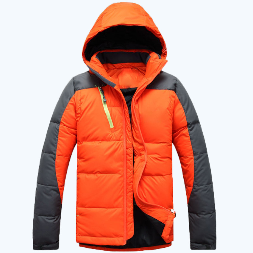 Free Shipping 2015 New Famous Brand T..F Down Jacket Mens Winter Warm Coat Casual Duck Down Jacket Men Hot DL 190(China (Mainland))