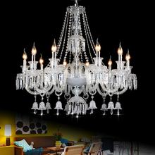 decorative hanging lights modern light living room chandelier crystal ceiling mounted chandelier flush mount lamp dining room(China (Mainland))