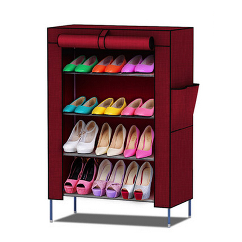 Shoe racks Non-woven fabrics furniture Shoe cabinet shoe storage mueble zapatero shelf for shoes(China (Mainland))